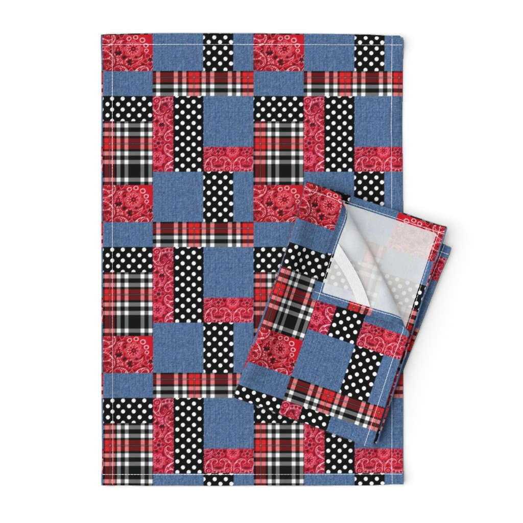 Orpington Tea Towels featuring Popular Rockabilly Fabrics by vintage_style