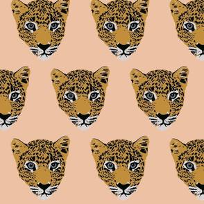 Leroy the Leopard on peach