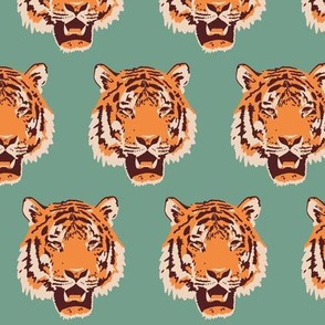Timothy the Tiger on teal (small)