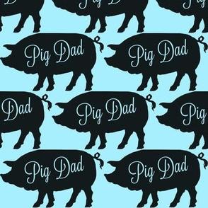 Pig Dad Blue