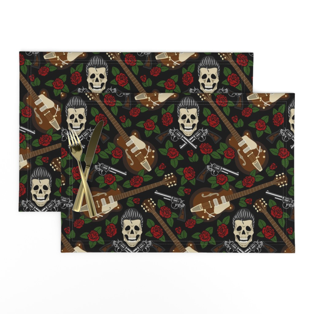 Lamona Cloth Placemats featuring rockabilly (large scale) by sveta_aho