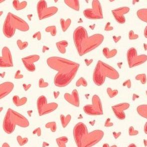 Watercolor Hearts cream