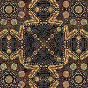 Golden Earth: Earthy Flower Squares