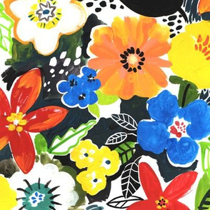 Painted Floral Medium Scale