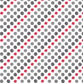 Rockabilly polka dots and roses