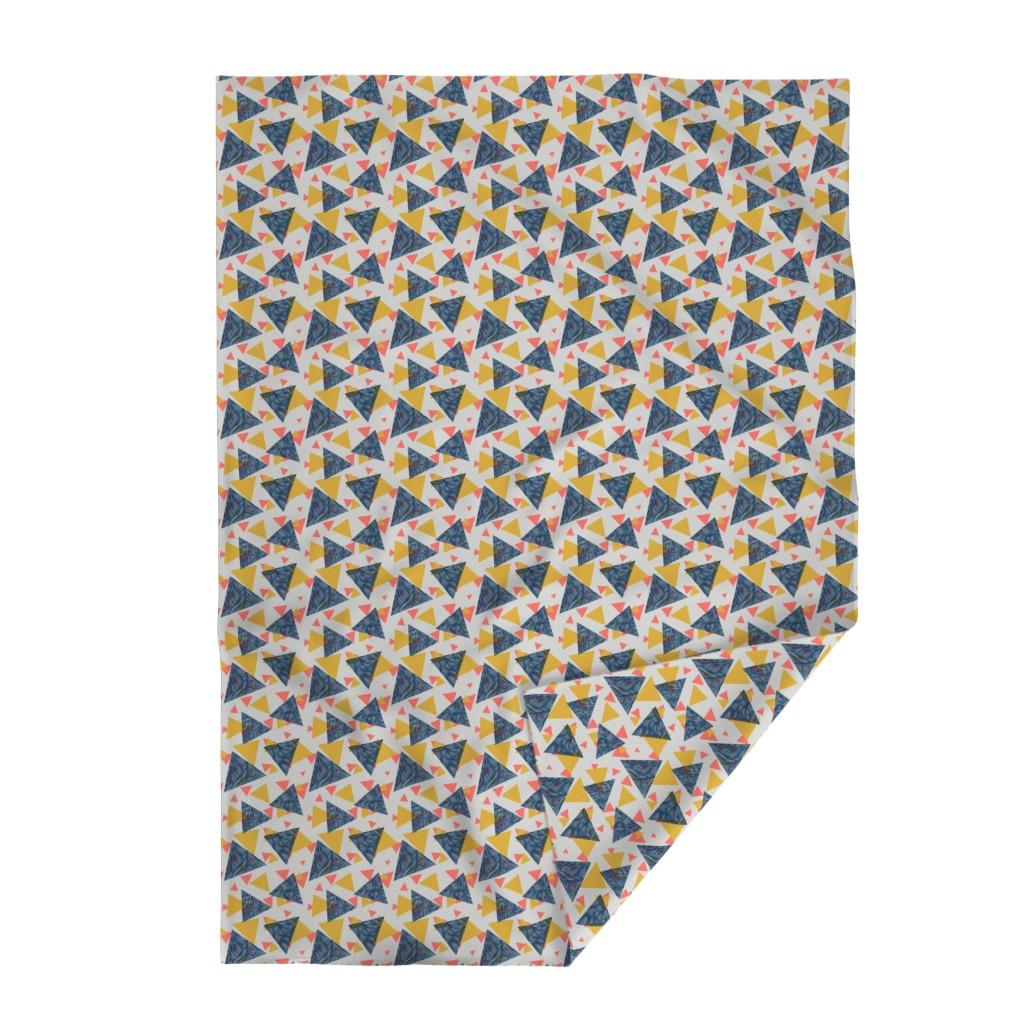 Lakenvelder Throw Blanket featuring Happy by doodlena