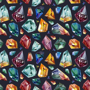 crystals pattern