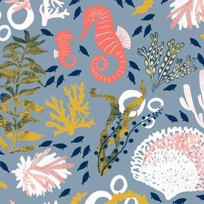 Seaweed Slumber - Blue
