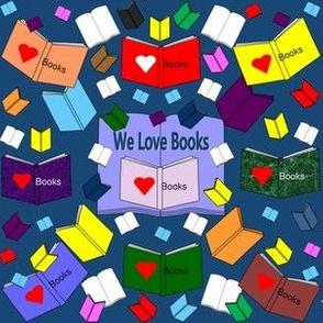 We Love Books Fabric #3