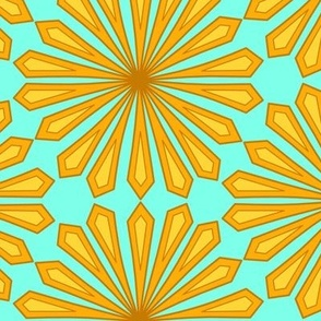Copper Cinnamon Petals on Teal Spirit Organic