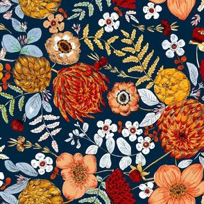bohem floral bold colors