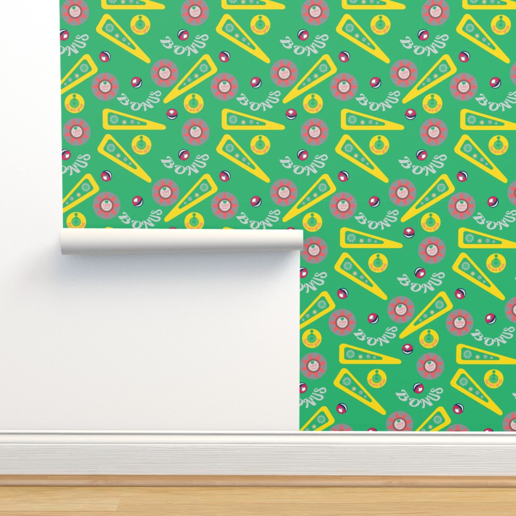 Isobar Durable Wallpaper featuring Green pinball by lananipattern
