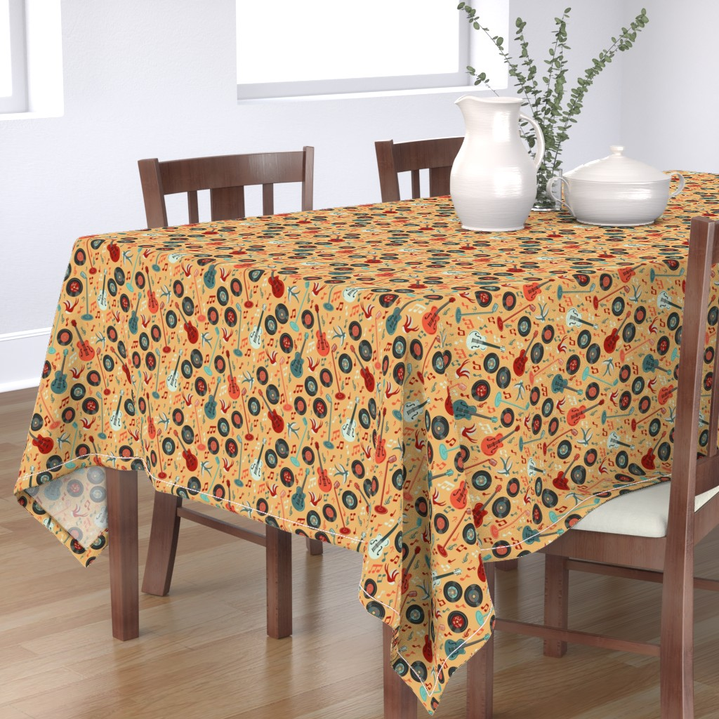 Bantam Rectangular Tablecloth featuring Rock with me 1953 by new_branch_studio