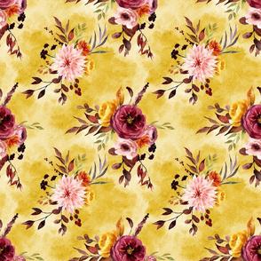 Autumn Floral Mustard