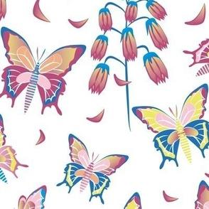 Alicia's Butterflies vivify white