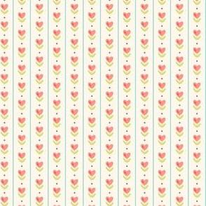 watercolor hearts with aqua strips