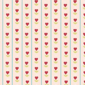 Heart and aqua stripe