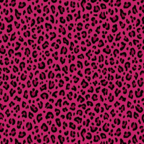 ★ LOVE LEOPARD – LEOPARD PRINT in HOT PINK ★ Tiny Scale / Collection : Leopard spots – Punk Rock Animal Print