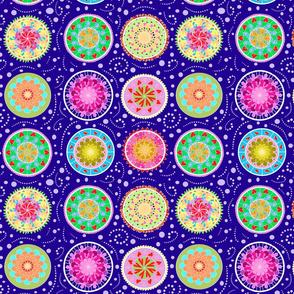 Pretty Swirls and Folk Art Circles