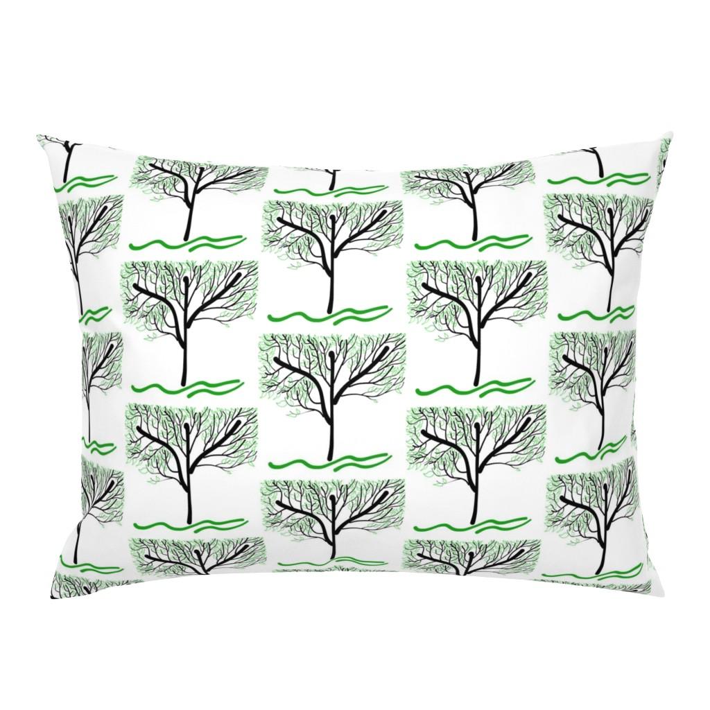 Campine Pillow Sham featuring Trees Breathe Life (summer) - open leaves by bravenewart
