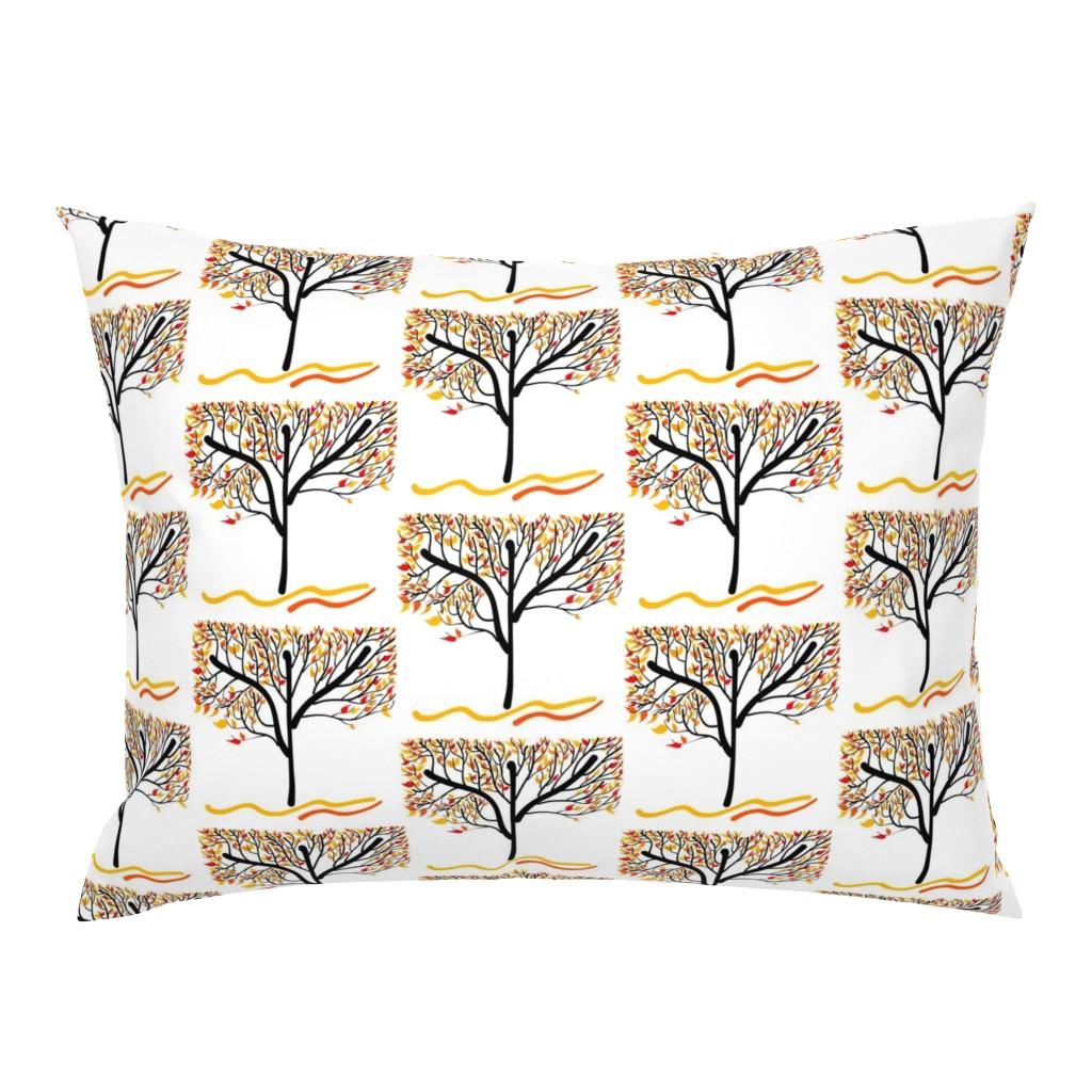 Campine Pillow Sham featuring Trees Breathe Life (Autumn) by bravenewart