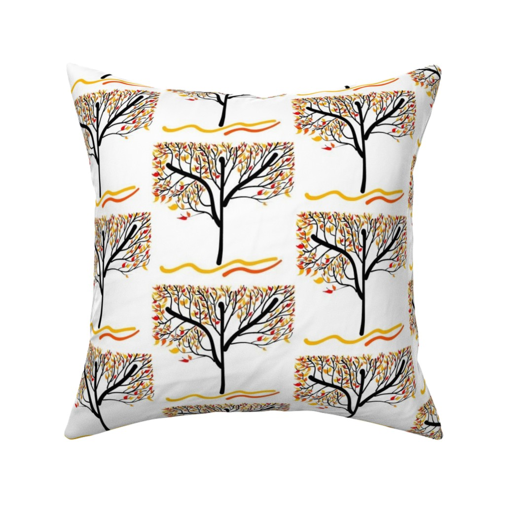 Catalan Throw Pillow featuring Trees Breathe Life (Autumn) by bravenewart