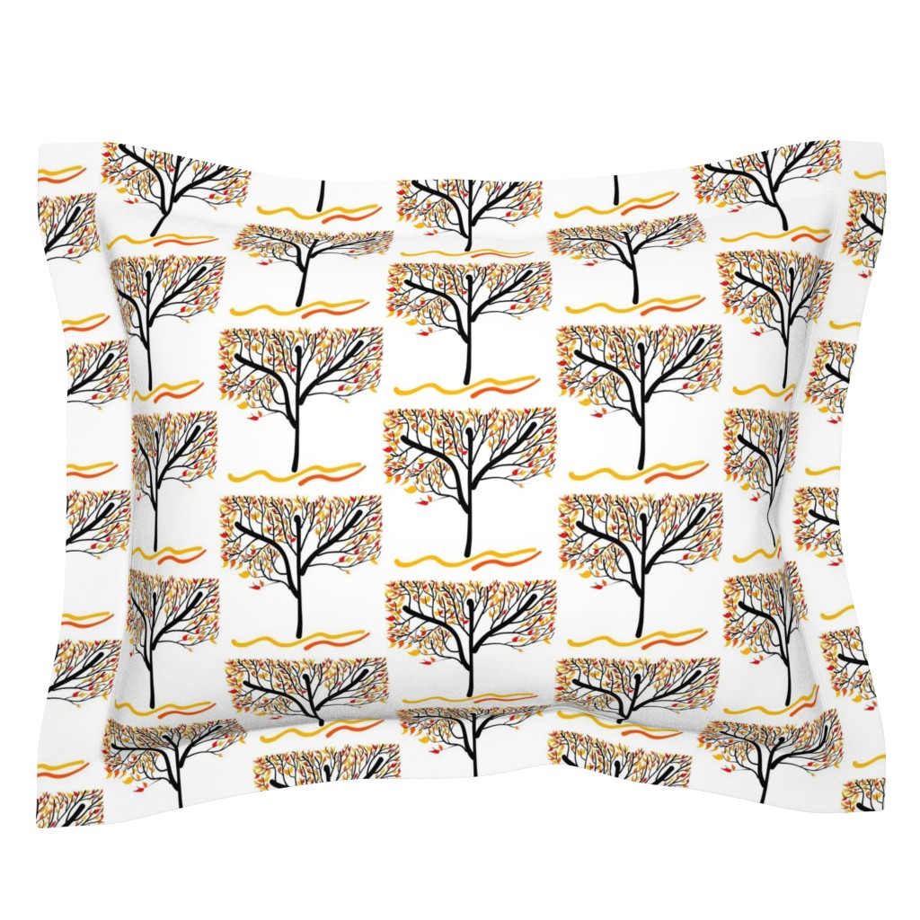 Sebright Pillow Sham featuring Trees Breathe Life (Autumn) by bravenewart