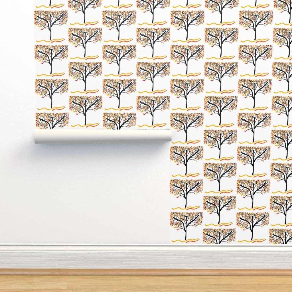 Isobar Durable Wallpaper featuring Trees Breathe Life (Autumn) by bravenewart