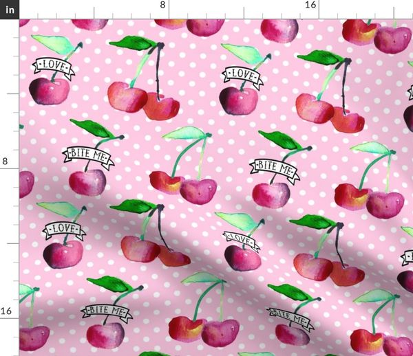 OLDSCHOOL CHERRIES VINTAGE LOGO I GIRLIE SHIRT Cherry Pin-Up Tattoo Kirschen