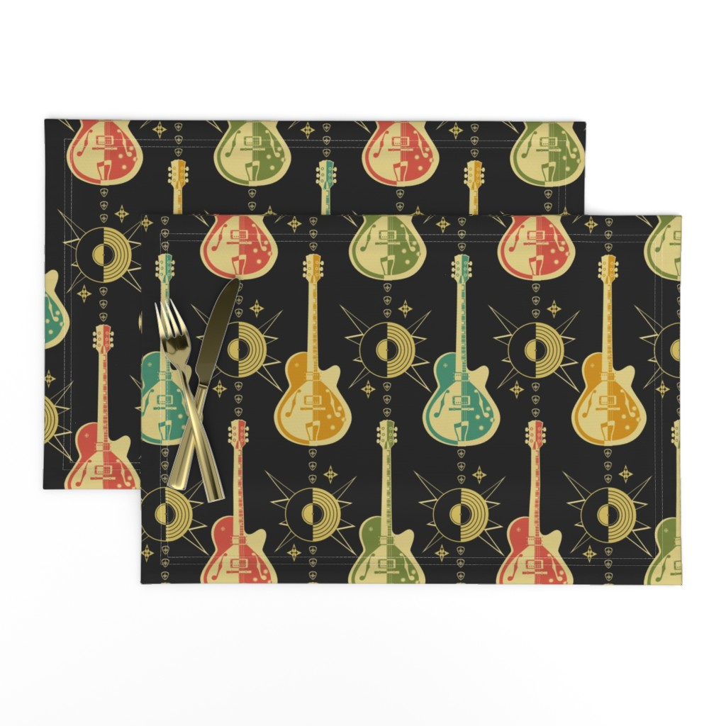 Lamona Cloth Placemats featuring Harlequin Guitars by studioxtine