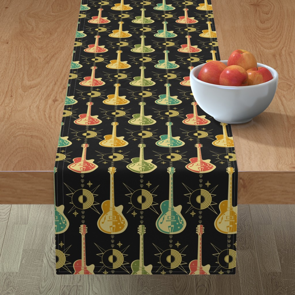 Minorca Table Runner featuring Harlequin Guitars by studioxtine