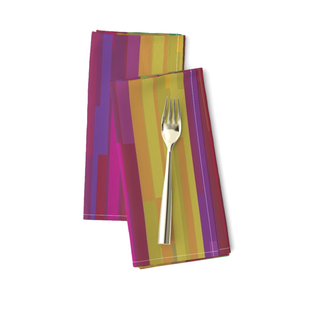 Amarela Dinner Napkins featuring ribbon-band_red_gold_green by wren_leyland
