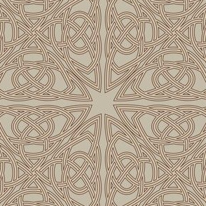 Sandy Beige Celtic Pattern