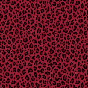 ★ LEOPARD PRINT in DEEP RED ★ Tiny Scale / Collection : Leopard spots – Punk Rock Animal Print