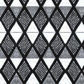 Diamond H White+Black-Xtra Large