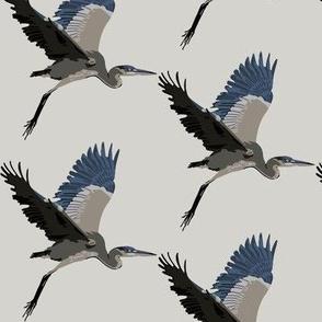 Harold the Heron in light grey - small