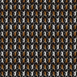 Small Trotting Ibizan hound border vertical - black