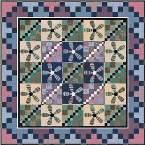 rose green quilt