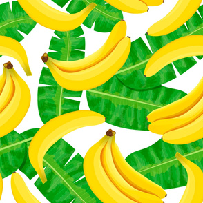 banana and leaves pattern