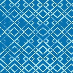 Avian Paradise Blue Trellis