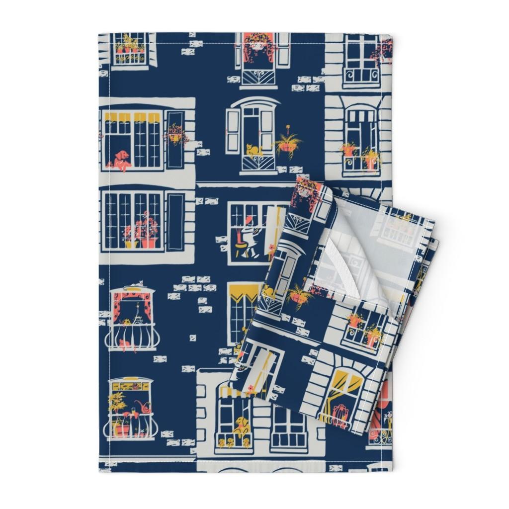 Orpington Tea Towels featuring Paris Windows by southwind