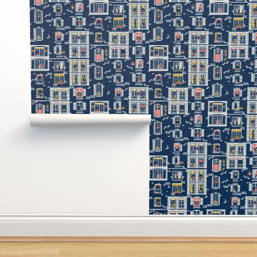 Isobar Durable Wallpaper featuring Paris Windows by southwind
