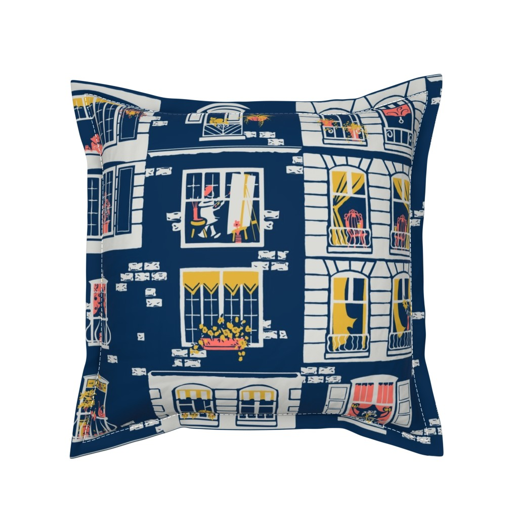 Serama Throw Pillow featuring Paris Windows by southwind