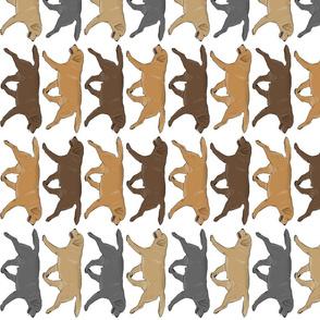 Trotting Labrador Retriever border vertical - white
