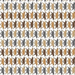 Small Trotting Labrador Retriever border vertical - white