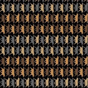 Small Trotting Labrador Retriever border vertical - black