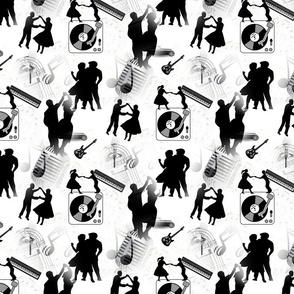 Rockabilly Old School Black & White