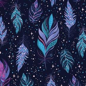 Magic Feathers-midnight blue-M size