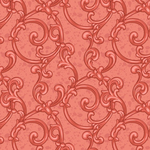 Coral scrol pattern