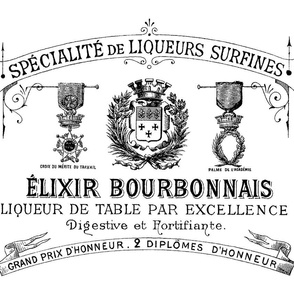 French Elixir Lable